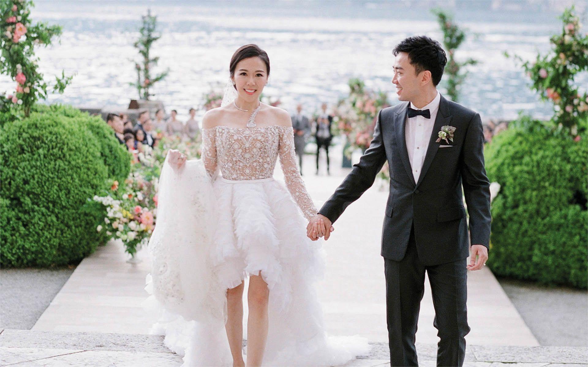 Real Weddings: Inside Flossie Chang And Keith Poon's Lake Como And Hong Kong Weddings