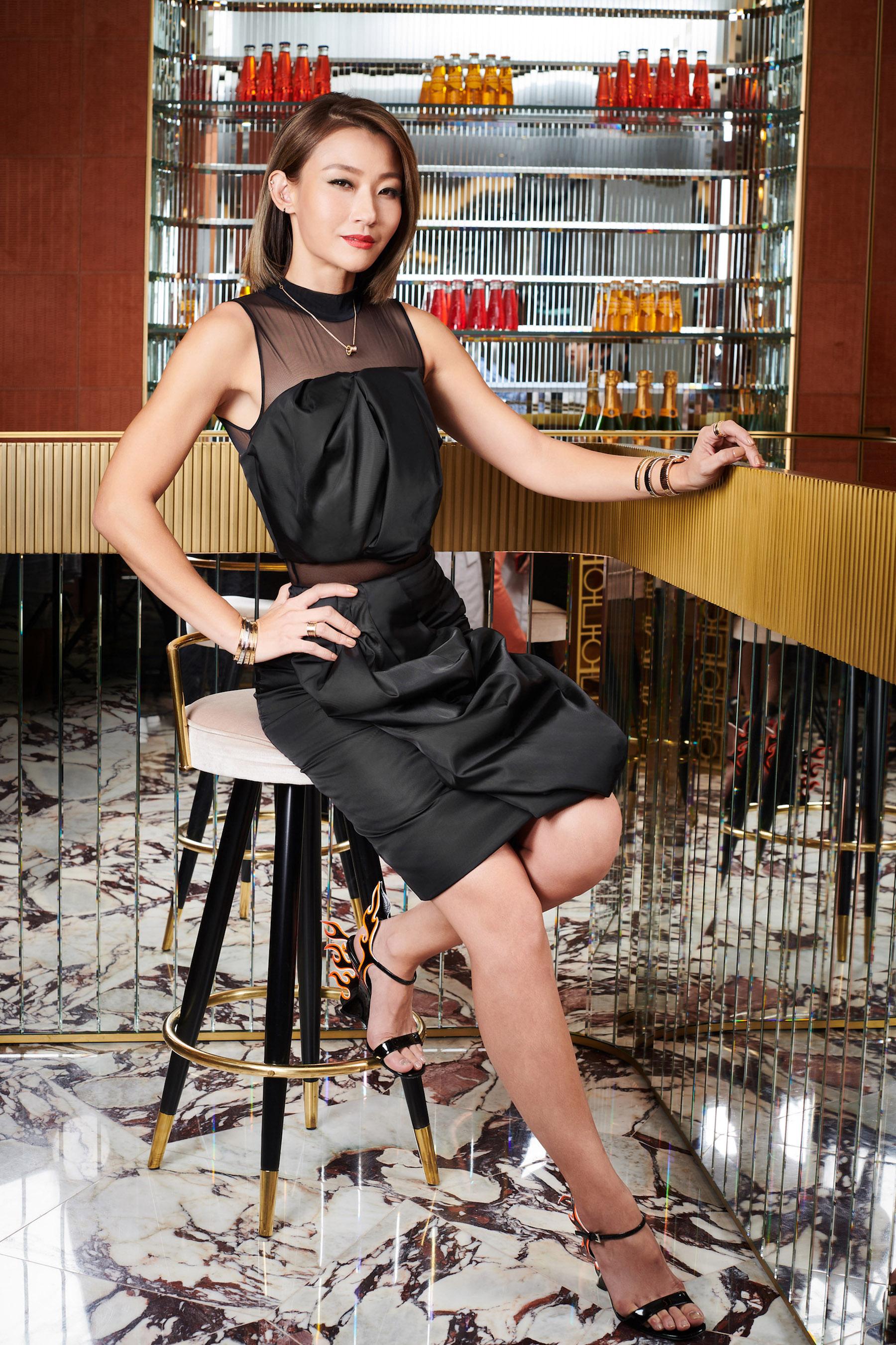 Esther Sham at the Happening Lounge, Bulgari, Landmark Chater (Photo: Moses Ng/Hong Kong Tatler)