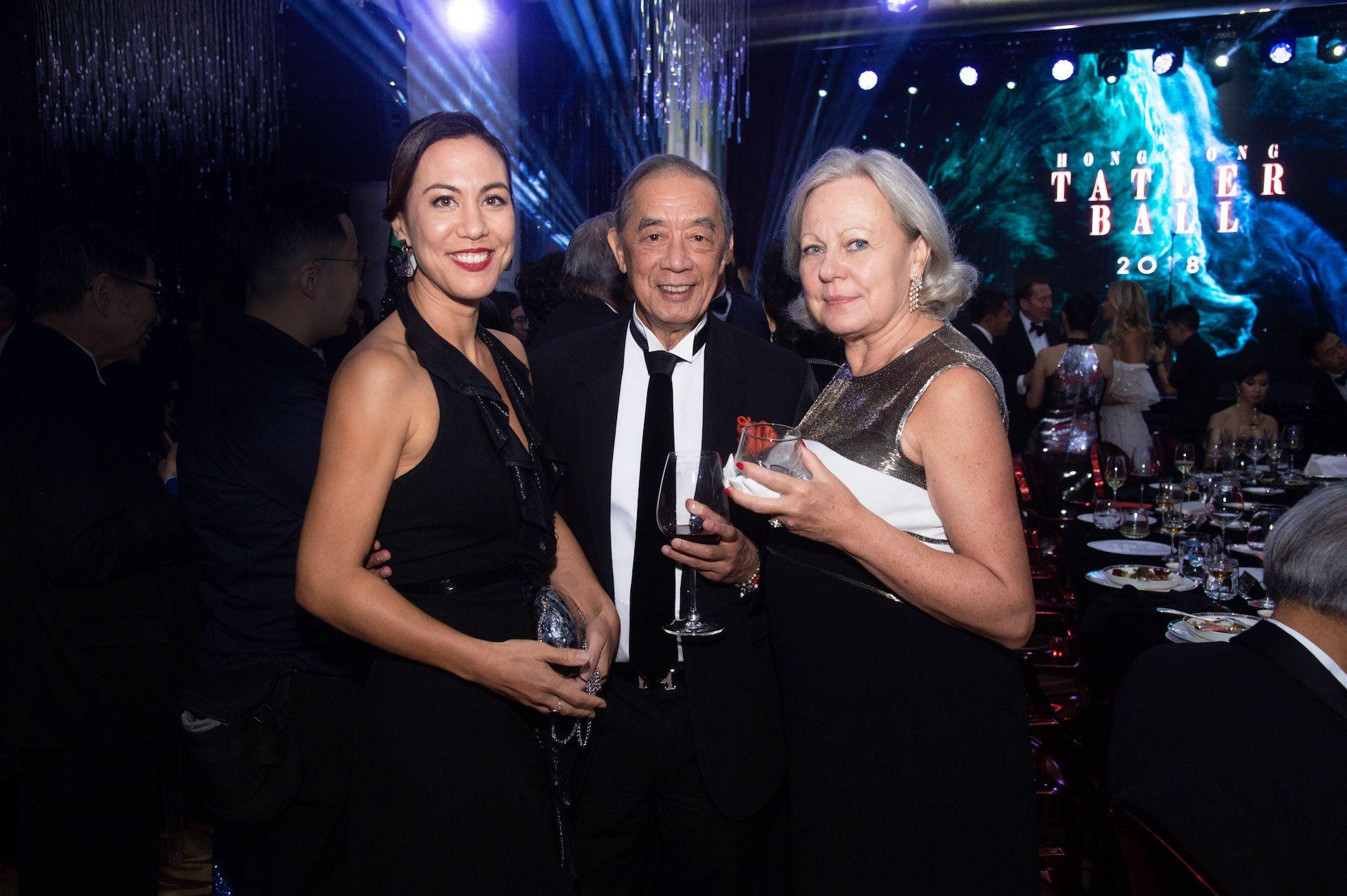 Jeanine Hsu, Ronald Arculli, Johanna Arculli