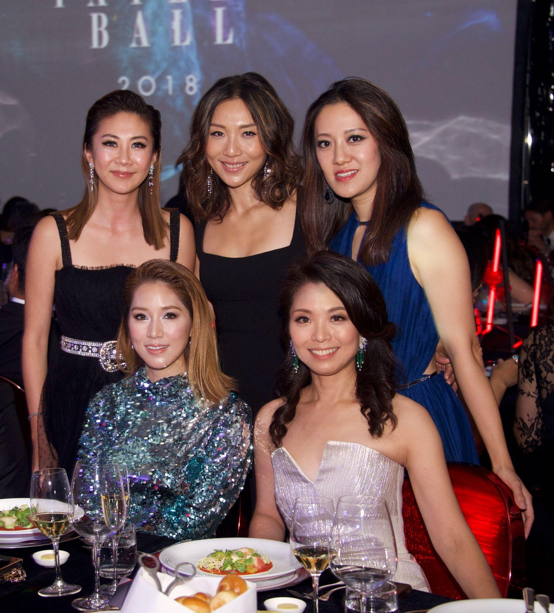 Standing - Adrienne Hui, Jacqueline Sun, Jenny Chau. Seated - Cathy Lee, Anne Wang-Liu