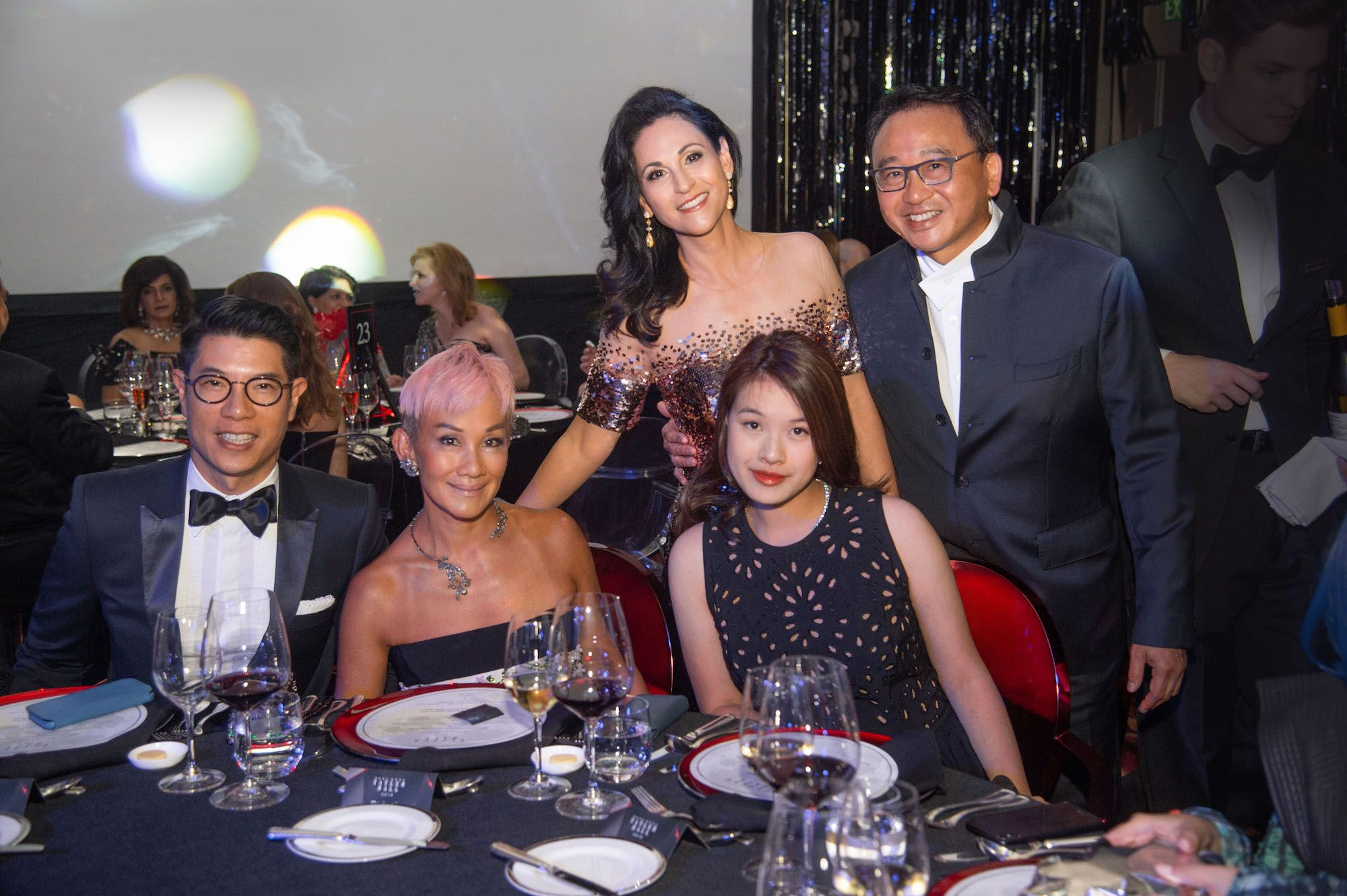 Standing - Mahnaz Lee, David Lee. Seated - Benjamin Lau, Marie-Christine Lee-Louey, Alexandra Louey