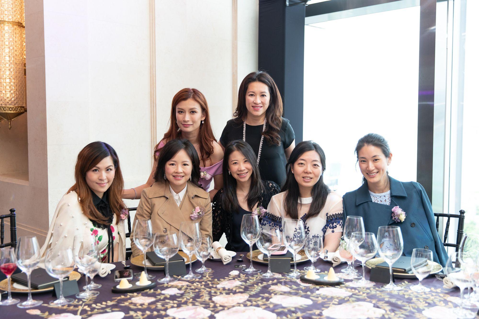 Standing - Colleen Fung, Isabella Liang. Seated - Clara Cheong, Jennifer Cheng, Maya Lin, Jennifer Ma, Michelle Liu