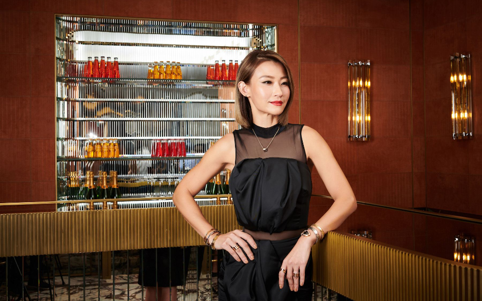 Esther Sham at the Happening Lounge, Bvlgari, Landmark Chater (Photo: Moses Ng/Hong Kong Tatler)