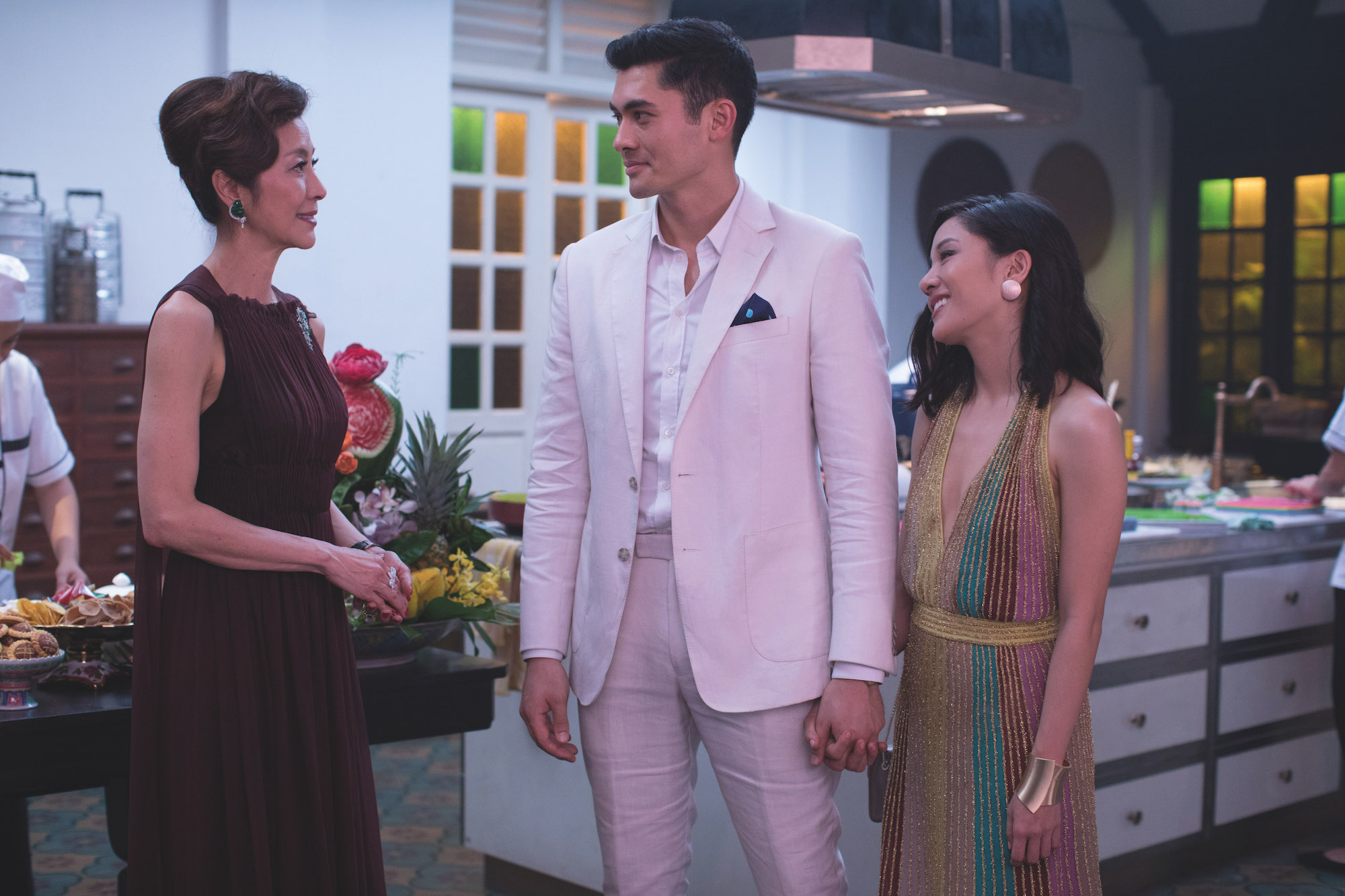 Michelle Yeoh, Henry Golding, Constance Wu