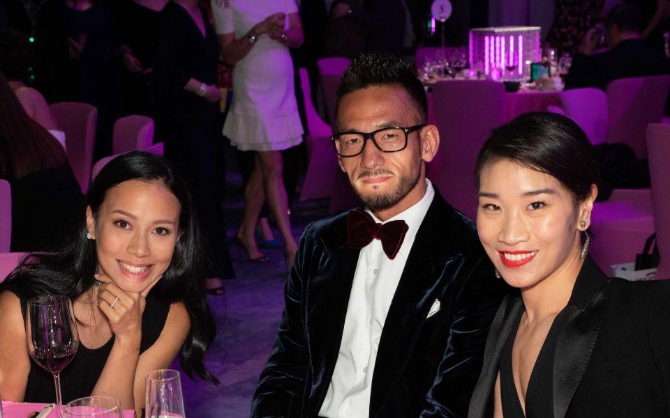 Claudine Ying, Hidetoshi Nakata, Dee Poon