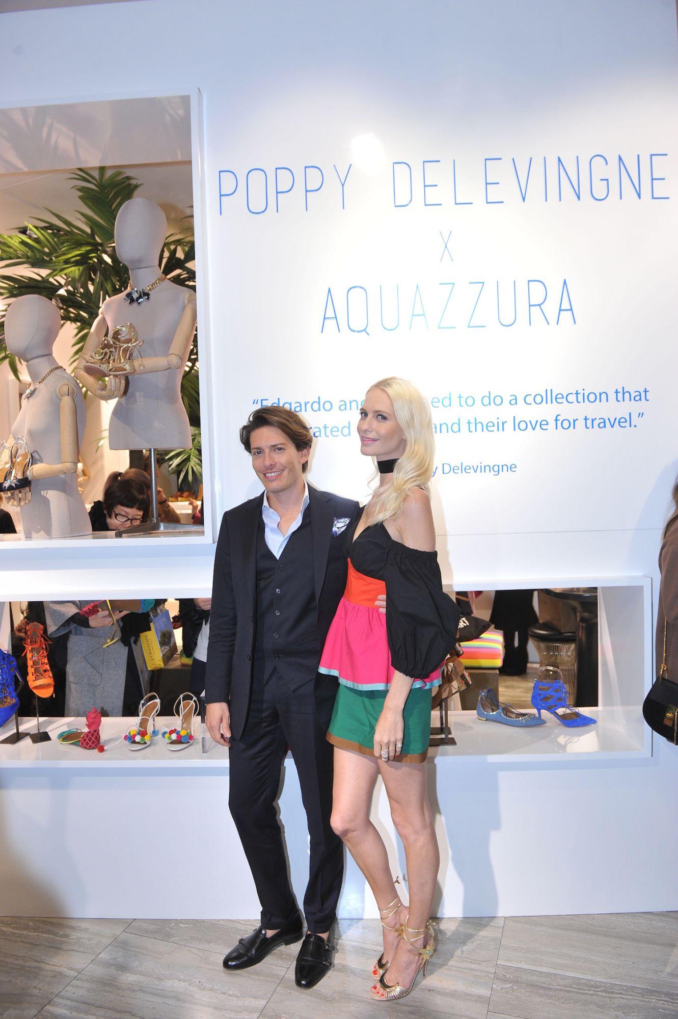 Edgardo Osorio and Poppy Delevingne