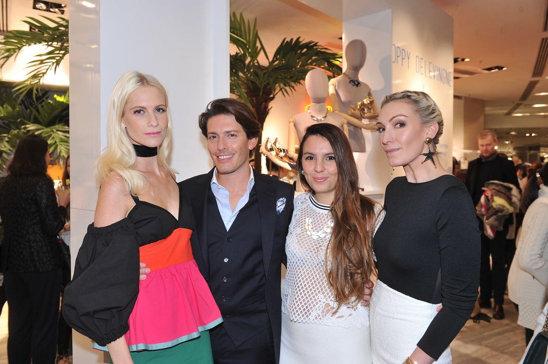 Poppy Delevingne, Edgardo Osorio, Valentina Slee, and Olivia Croucher Buckingham