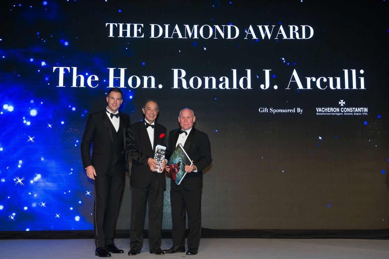 Michele Lamunière, Ronald Arculli and Steve McCurry