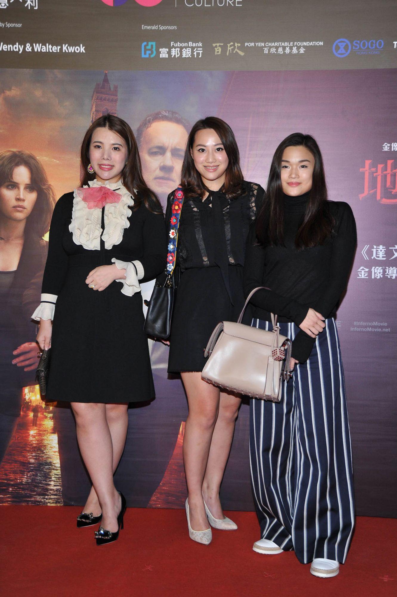 Wendy Yu, Josephine Chiu and Queenie Rosita Law