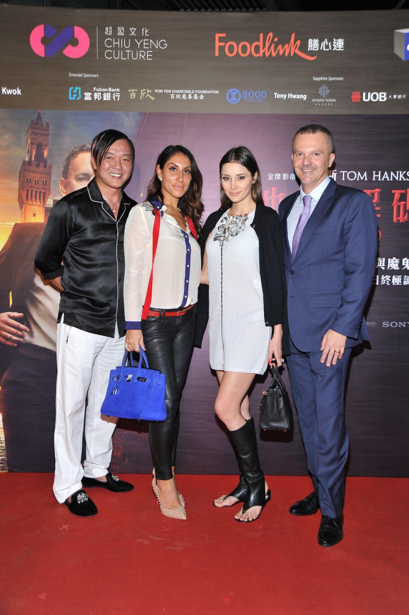 Stephen Hung, Miriam De Riu, Deborah Hung and Antonello De Riu