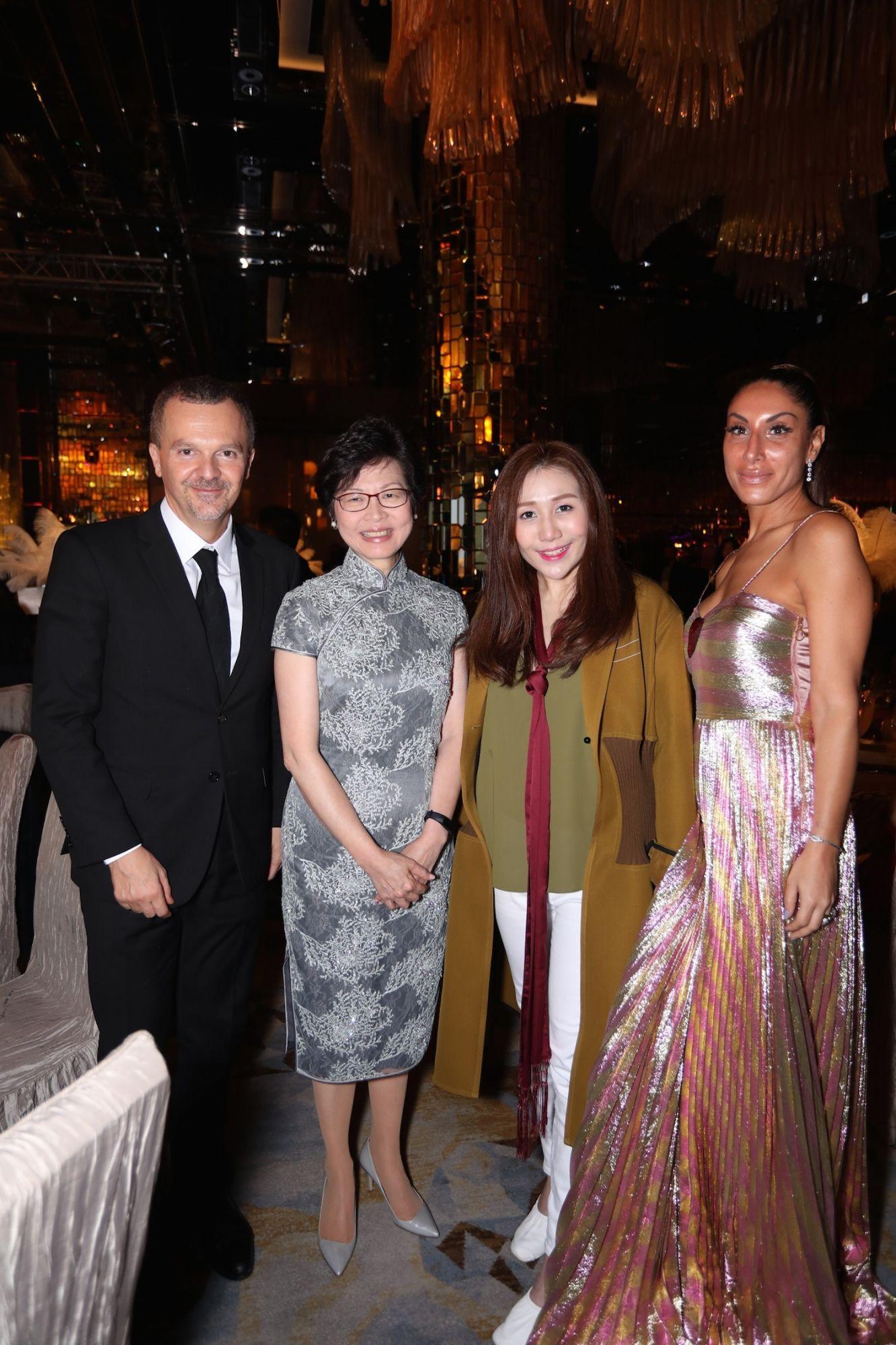 Antonello De Riu, Carrie Lam, Sabrina Ho and Miriam De Riu