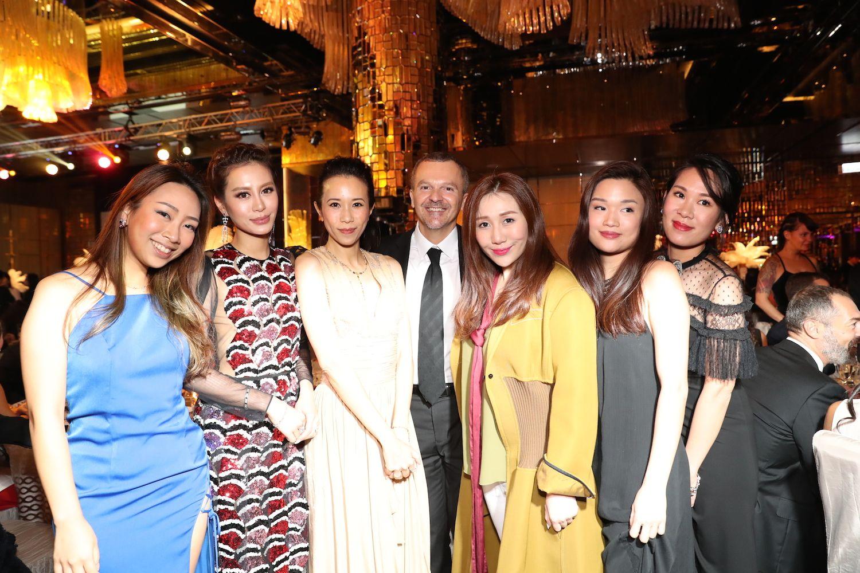 Veronica Lam, Eleanor Lam, Karen Mok, Antonello De Riu, Sabrina Ho, Queenie Rosita Law and Charmaine Ho