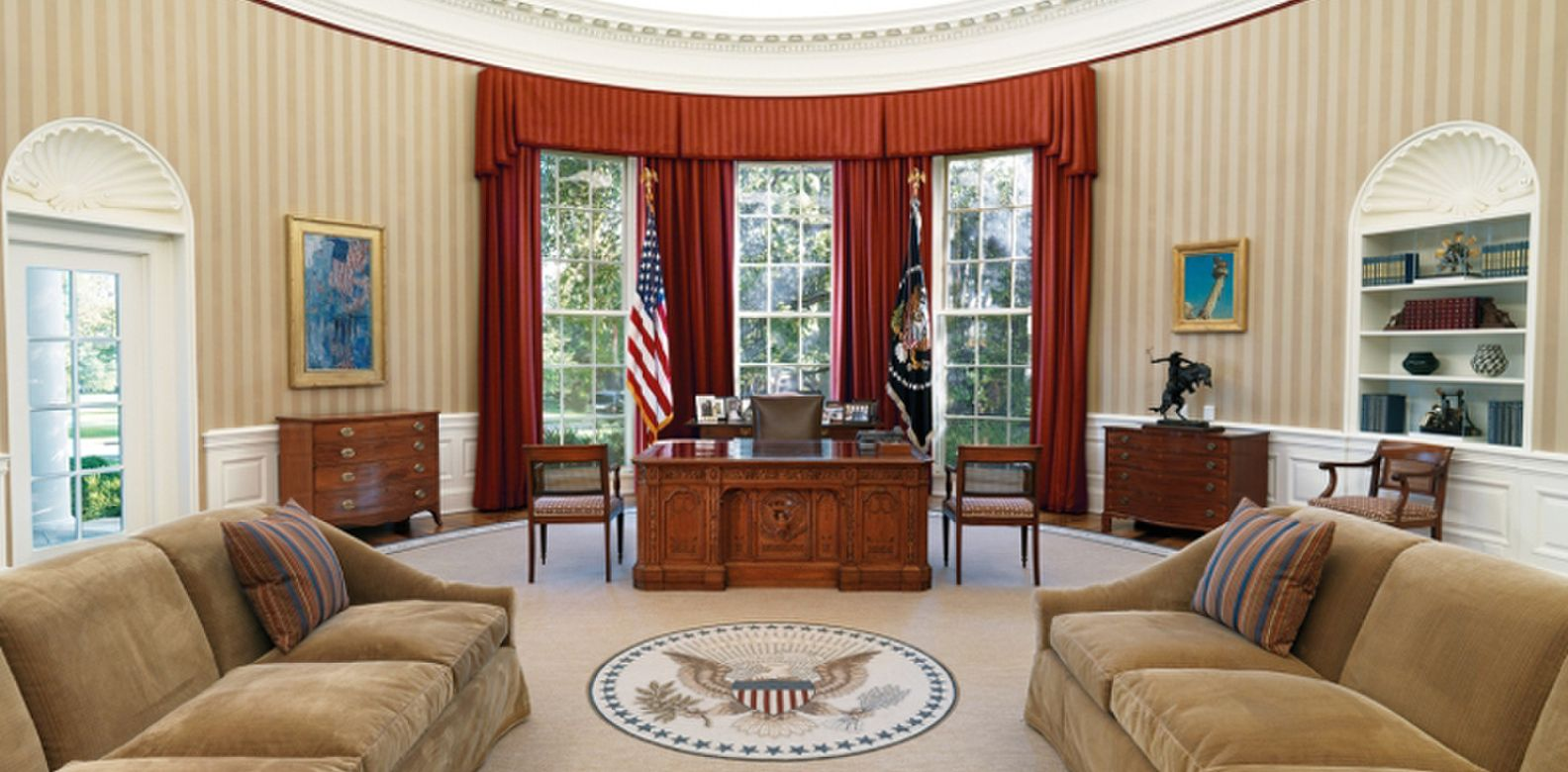 barak obama oval office golds. Obama To Clinton: How 3 Presidents Decorated The Oval Office Barak Golds