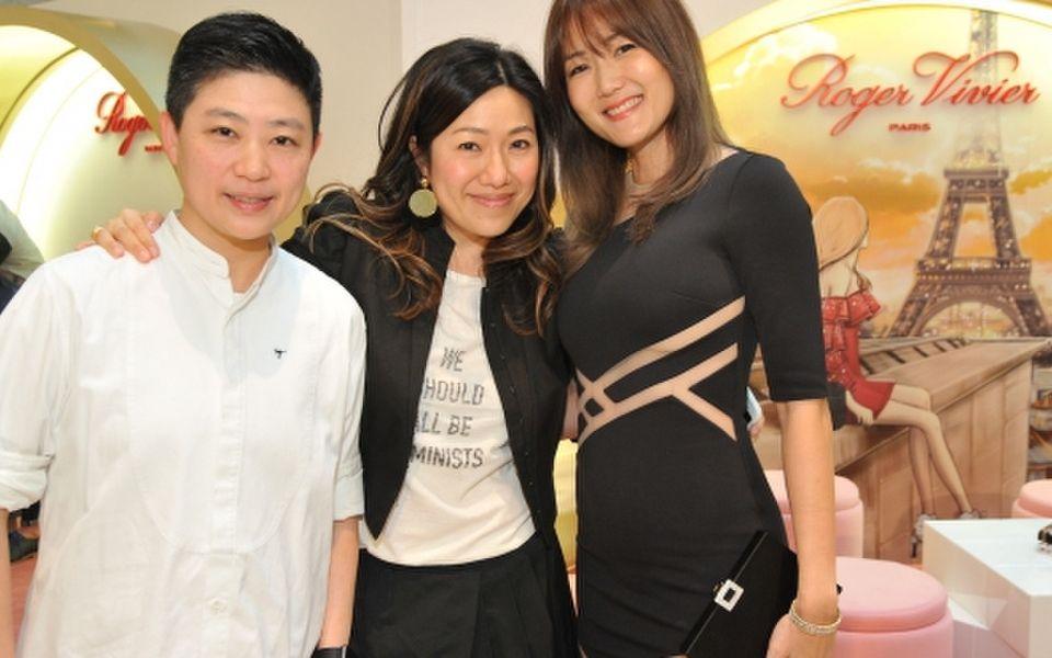 Joanne Chan, Catherine Ku and Cara Chan