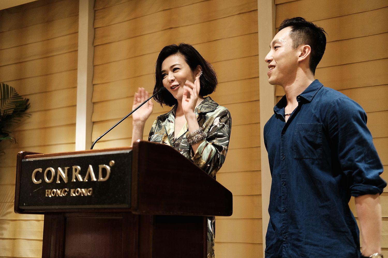 Rosamund Kwan and Harris Chan