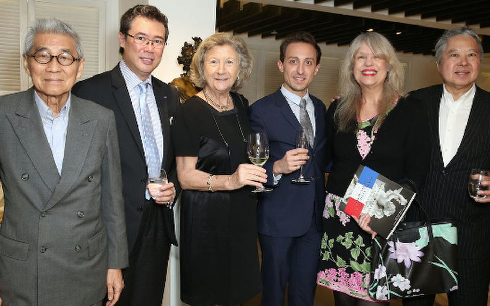 Robert Lo, Andrew Yuen, Sally Lo,  Julian-Loic Garin, and Paulette and George Ho
