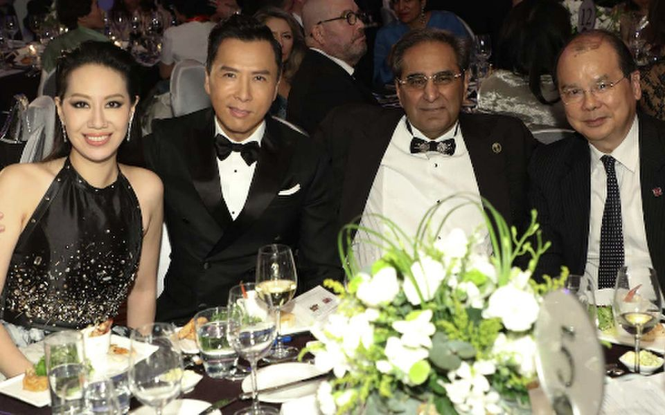 Cissy Wang, Donnie Yen, David Harilela and Matthew Cheung