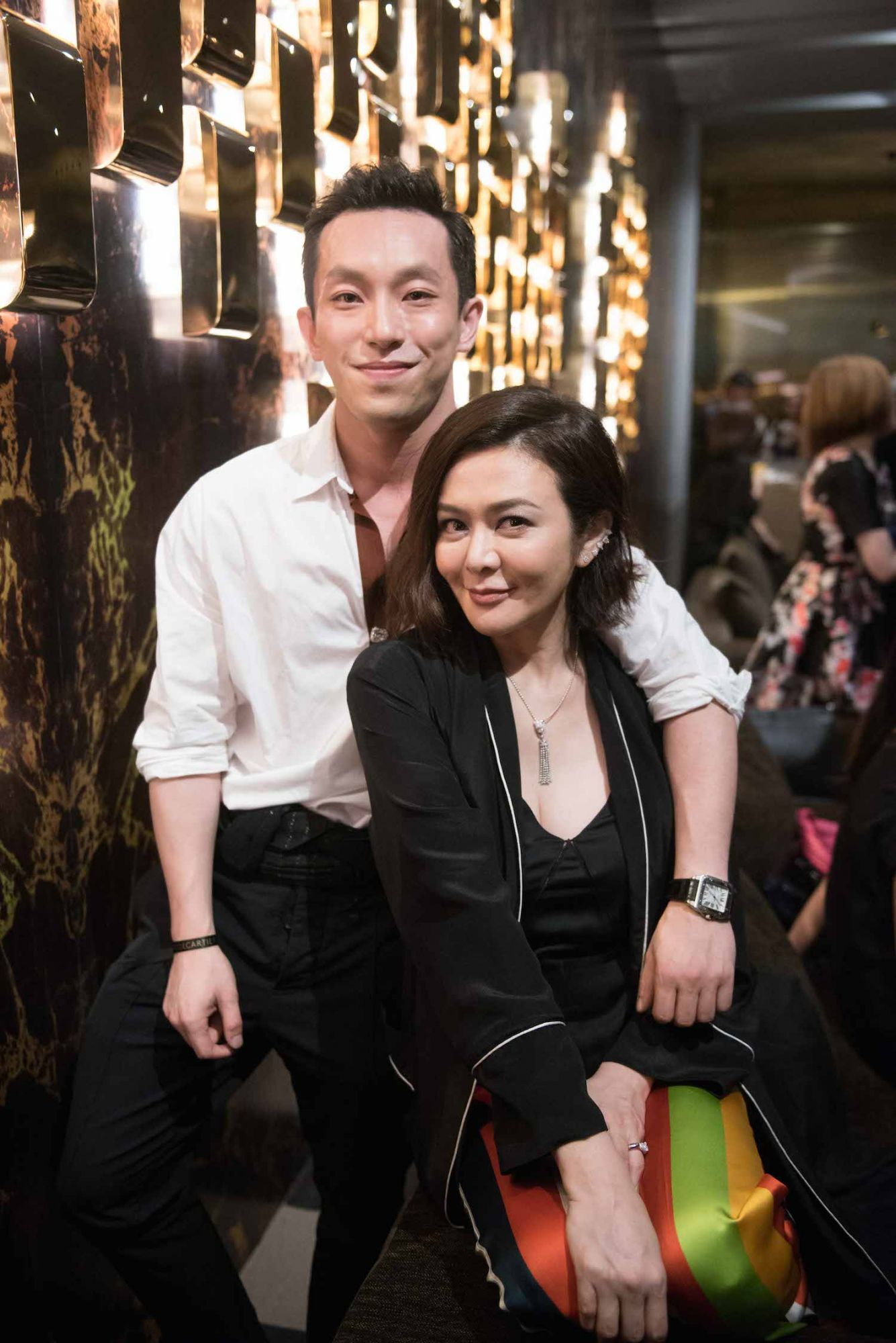 Harris Chan and Rosamund Kwan