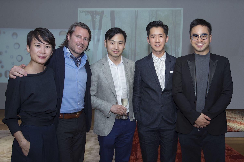 Adeline Ooi, Rodman Primack, Honus Tandijono, André Fu and Adrian Cheng