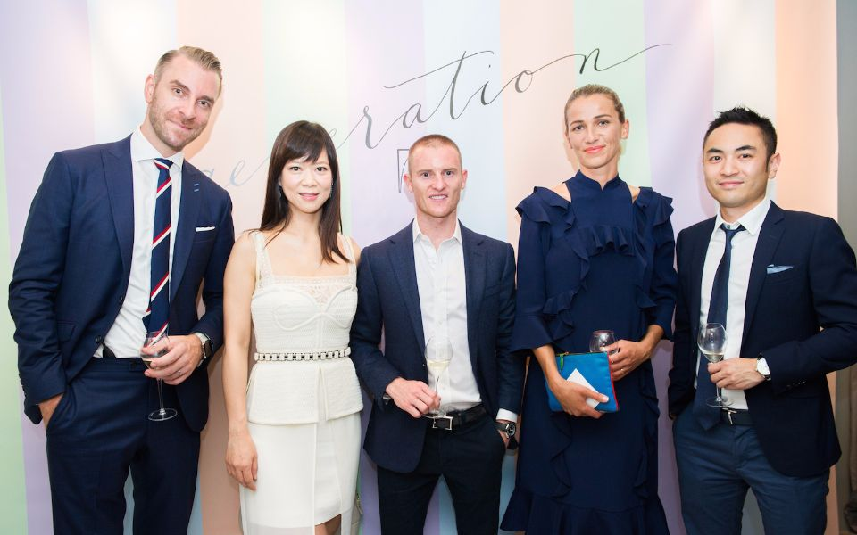 Peter Larko, Gina Wong, Zac Purton, Christina Dean and Aaron Lee