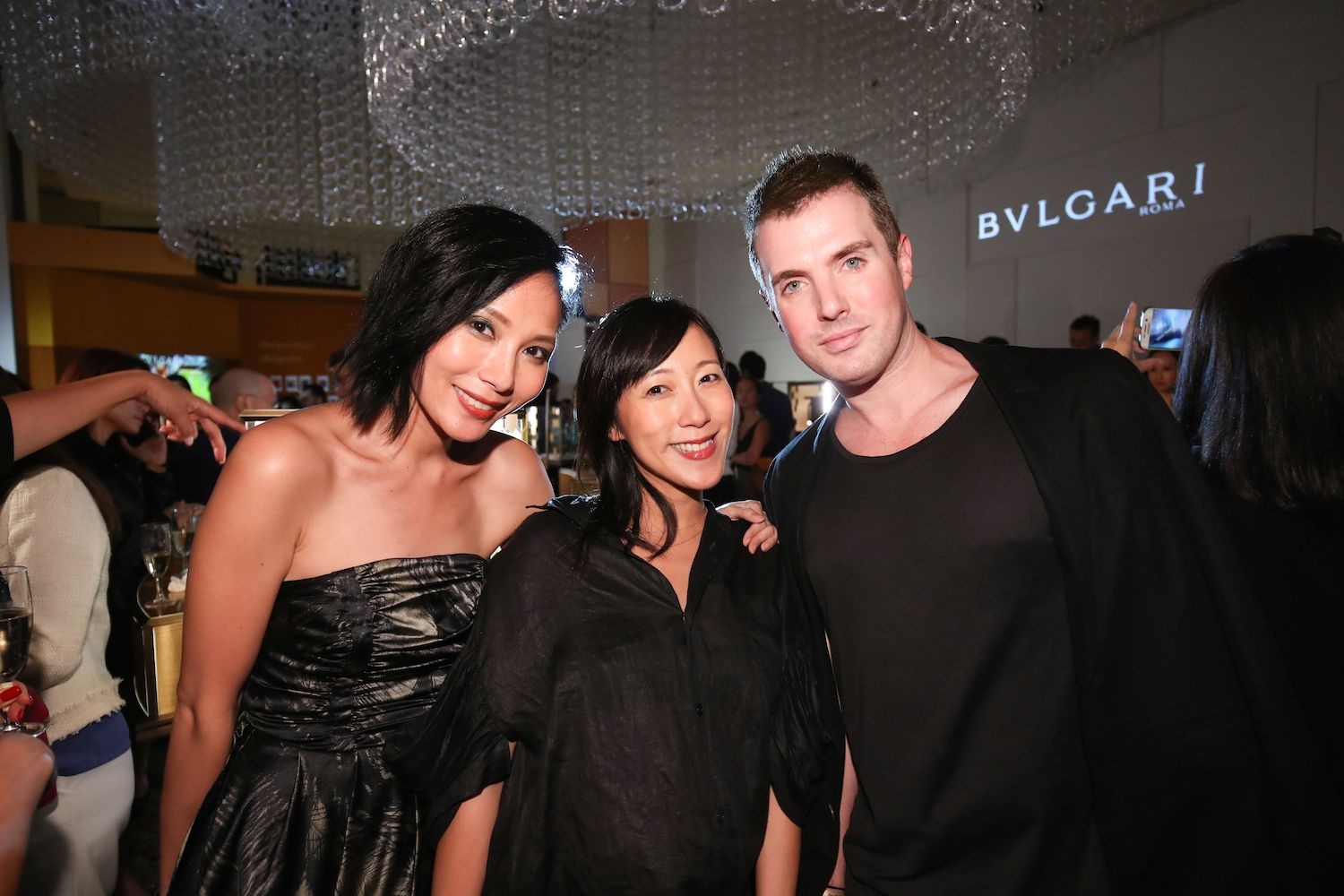 Jaime Ku, Denise Ho and Nick Troedson