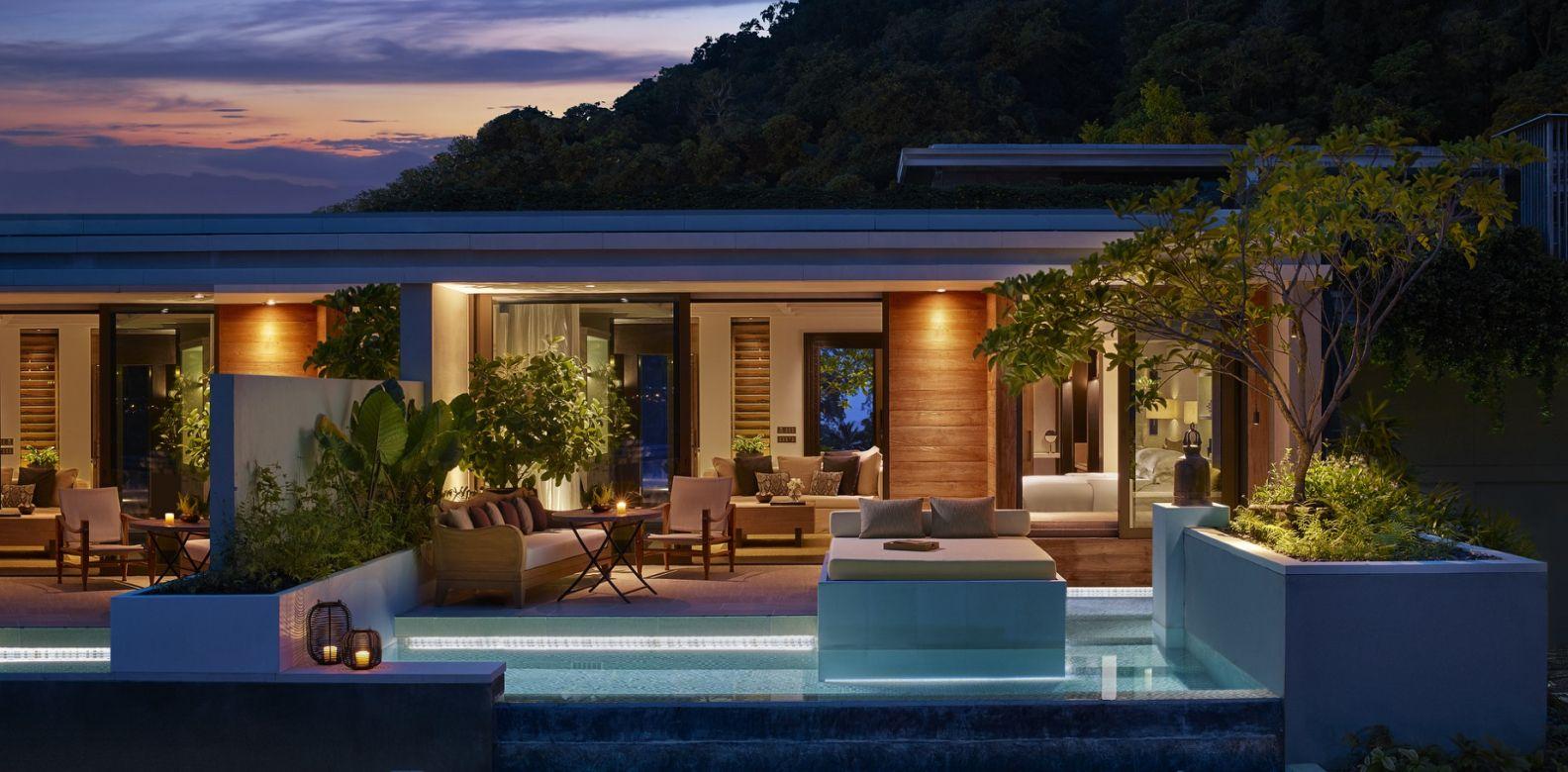 Rosewood Phuket Ocean Pool Pavilion By Night