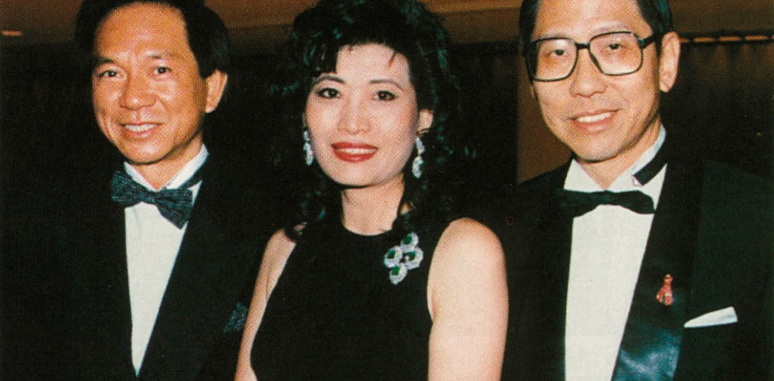 Louis and Alice Chiu and Che-hung Leong at the Aids Ball held in the Regent Ballroom (1995)