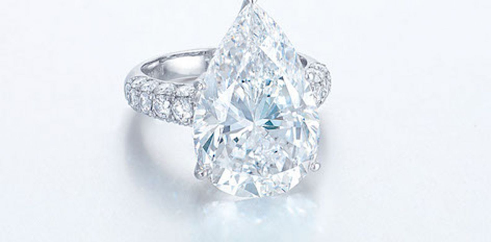 Pear-shaped diamond ring. (Photo: Courtesy of Christie's)