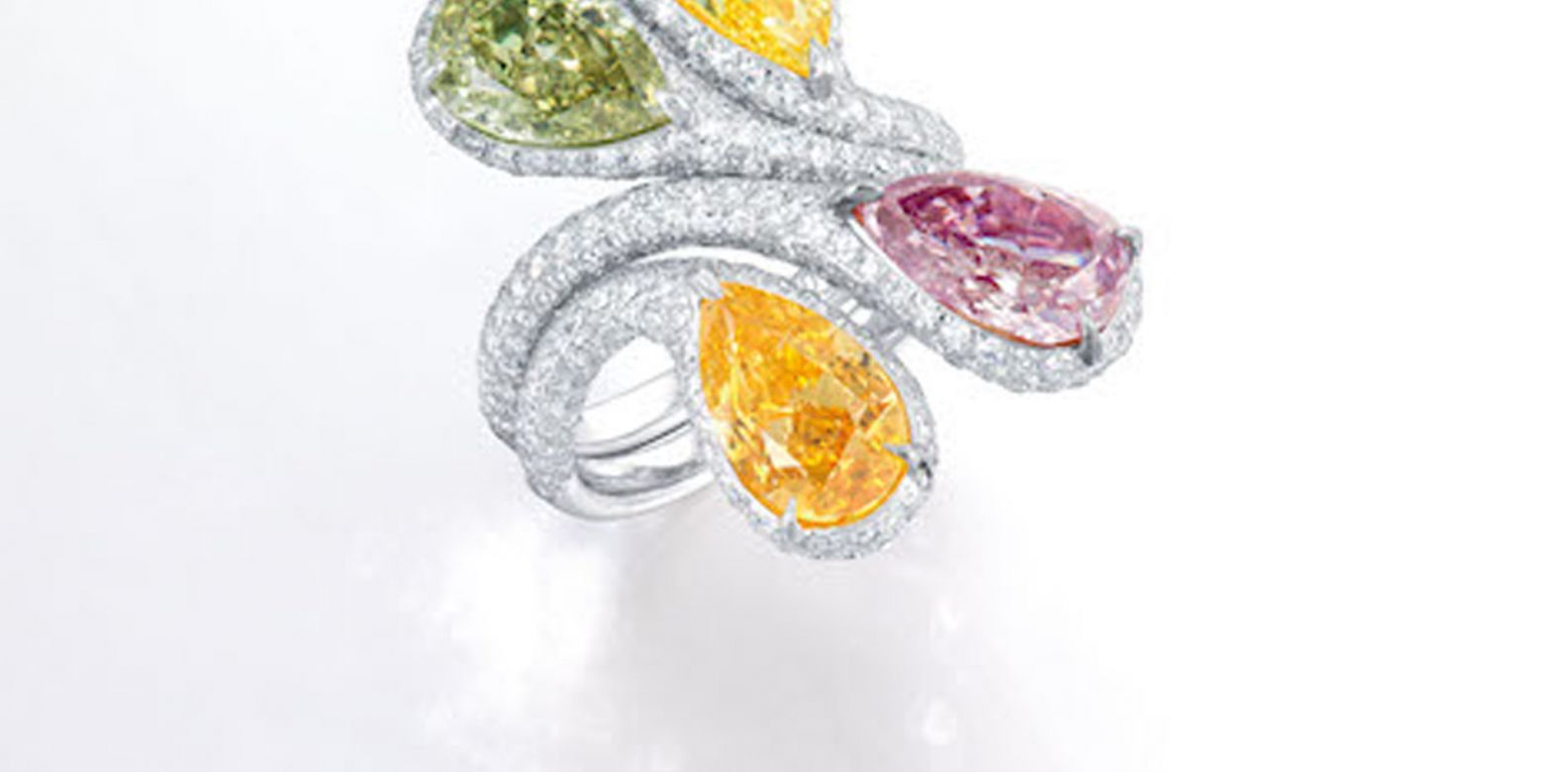 Coloured diamond ring. (Photo: Courtesy of Christie's)