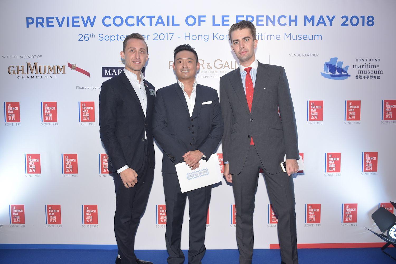 Julien-Loïc Garin, Arthur Lam and Sebastien Hue