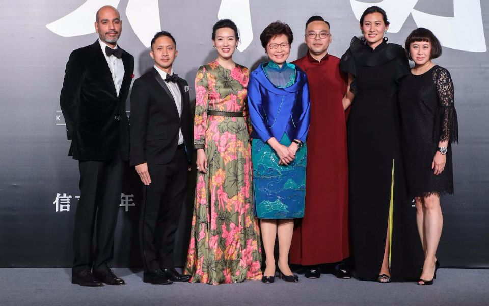 The Design Trust Board of Directors: Jay Parmanand, Jehan Chu, Joyce Tam, Hong Kong Chief Executive Carrie Lam, Alan Lo, Marisa Yiu, Desiree Au