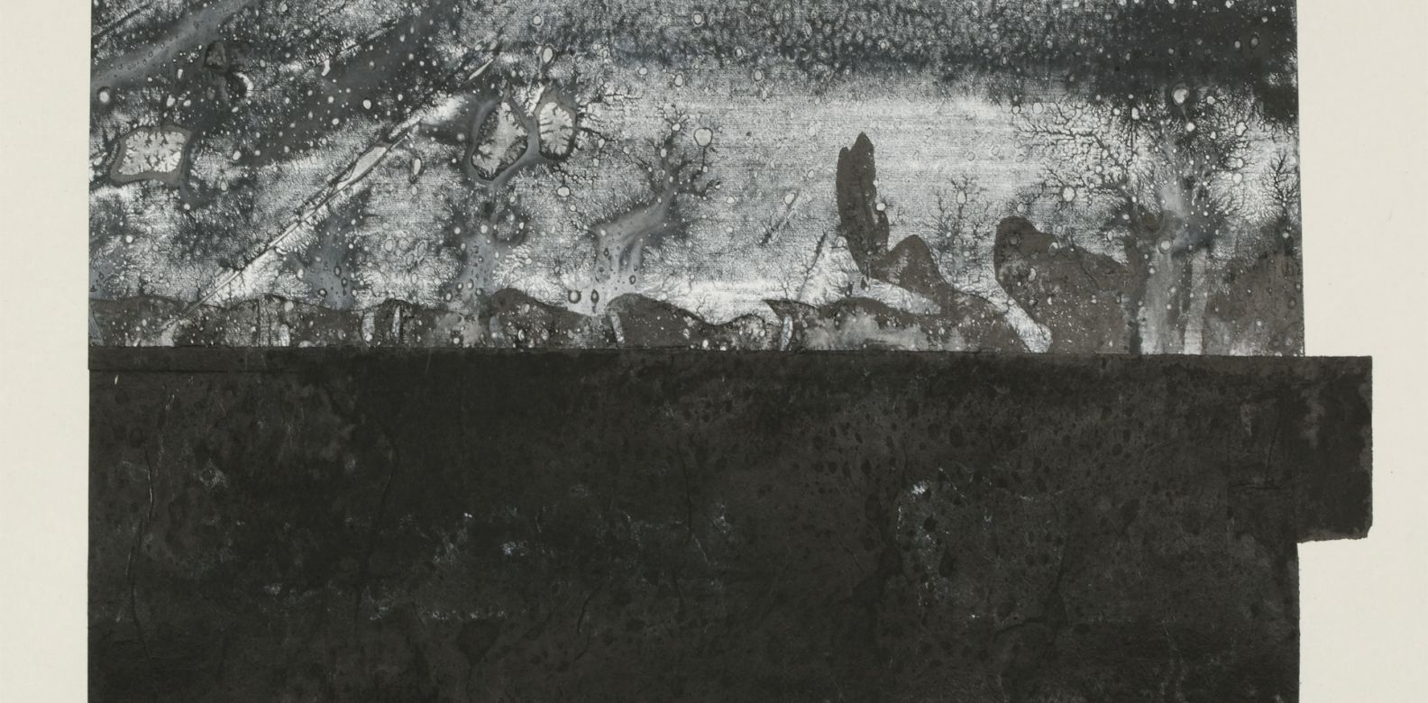 "Three Views (2014) by Zheng Chongbin: Splitting his time between studios in Shanghai and San Francisco, Zheng Chongbin has dedicated his career to exploring new ways to use Chinese ink. As ""Three Views"" shows, Chongbin has brought ink painting a long way from traditional calligraphy. (Image: Courtesy of the artist)"