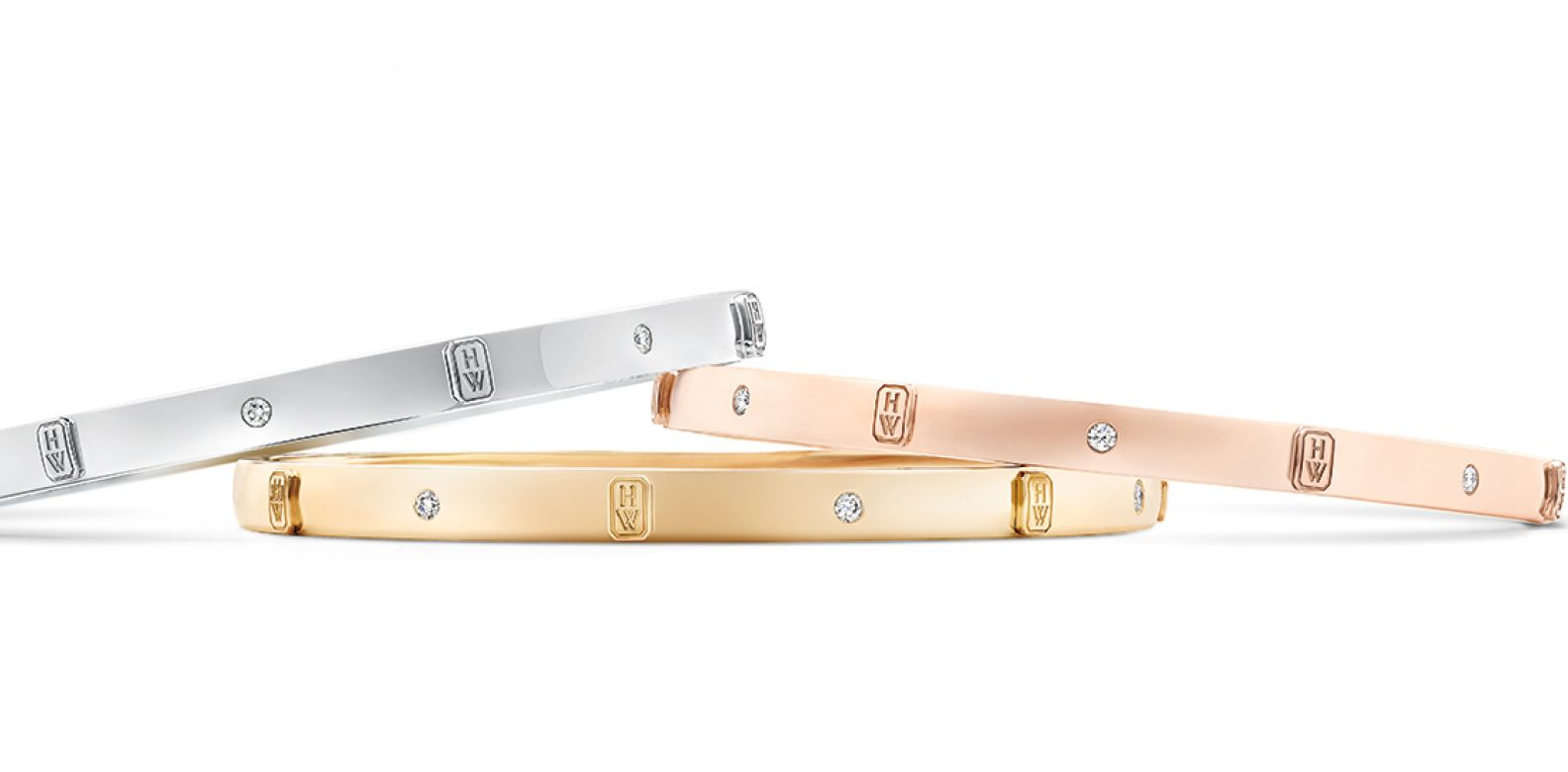 HW Logo by Harry Winston diamond bracelet in white, yellow or rose gold