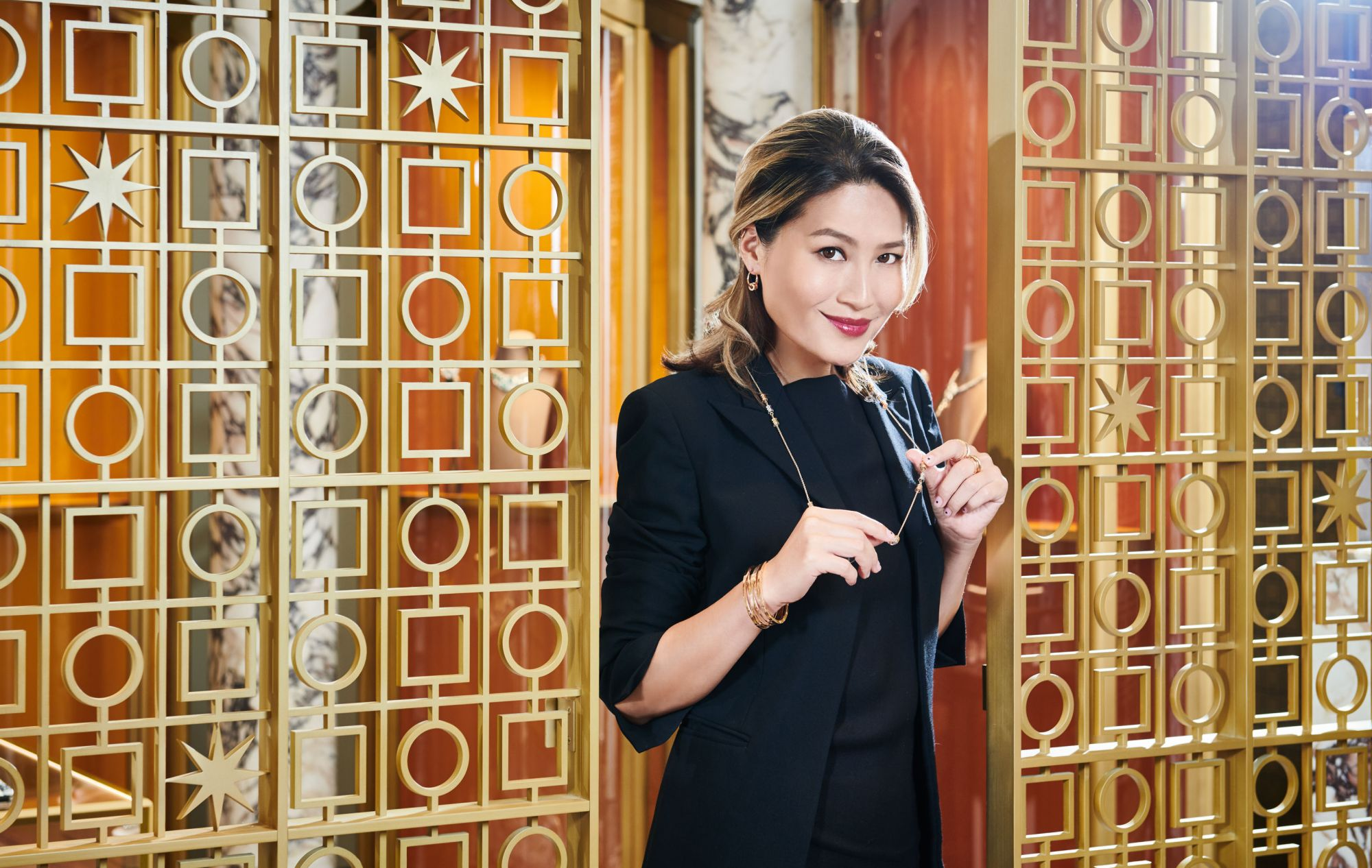 Helen Ma at Bulgari, Landmark Chater (Photo: Moses Ng/Hong Kong Tatler)