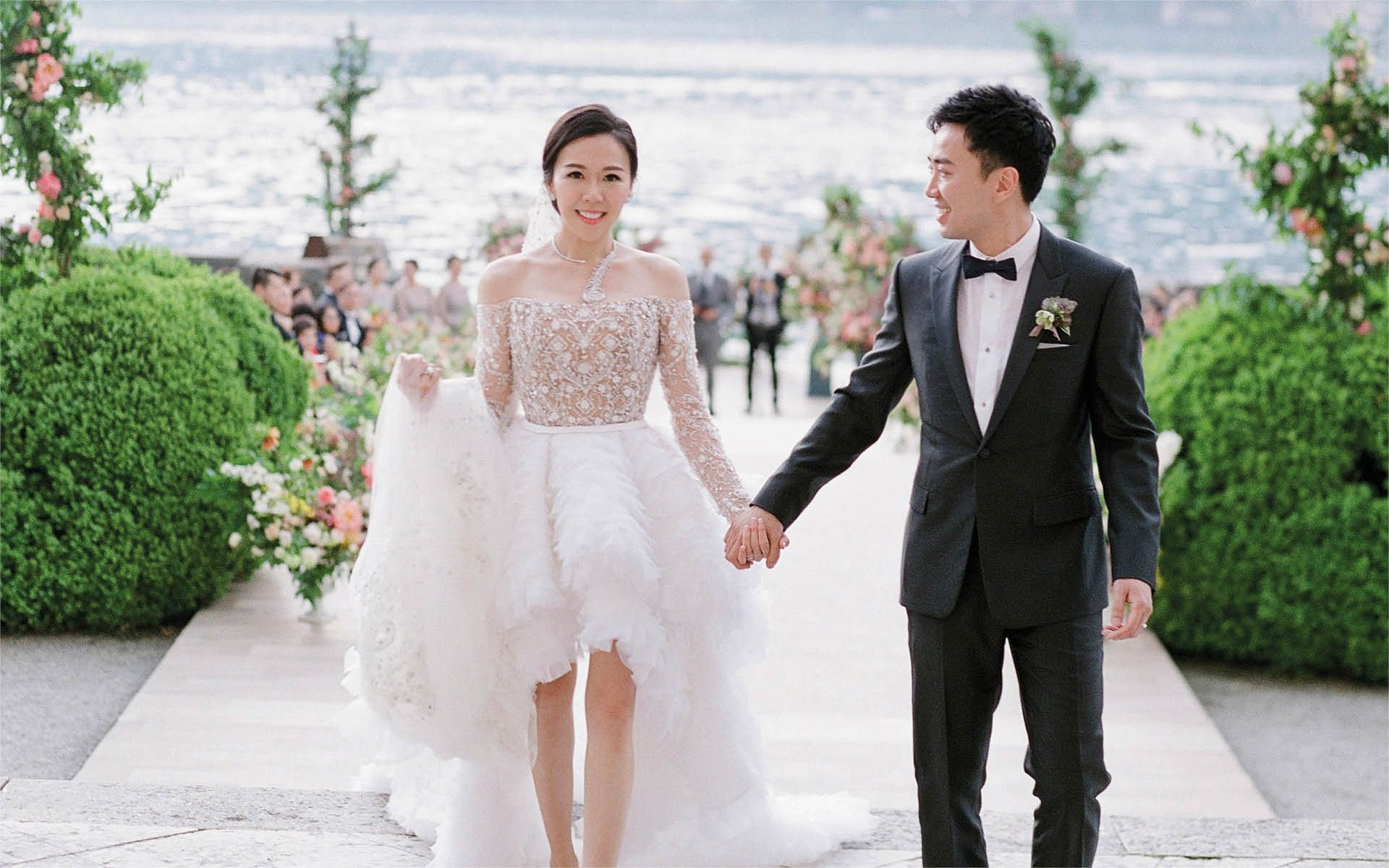 Real Weddings: Inside Flossie Chang And Keith Poon's Lake Como And Hong Kong Weddings