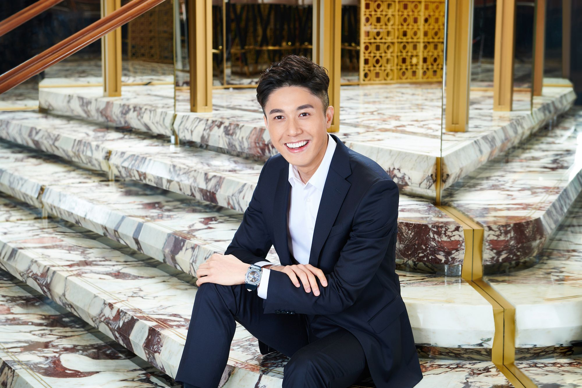 Edwin Pun at Bulgari, Landmark Chater (Photo: Moses Ng/Hong Kong Tatler)