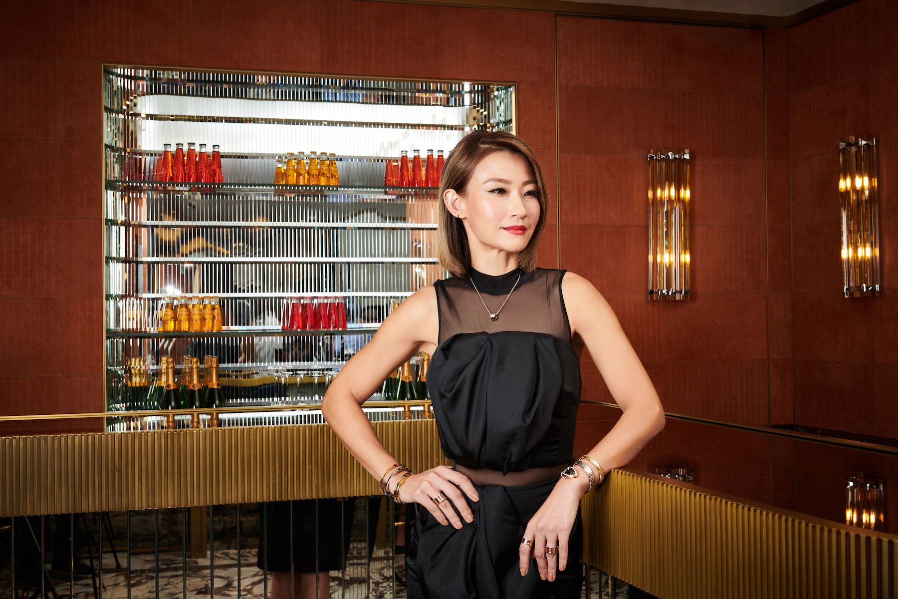 Esther Sham at the Happening Lounge, Bulgari, Landmark Chater (Photo: Moses Ng/Hong Kong Tatler)