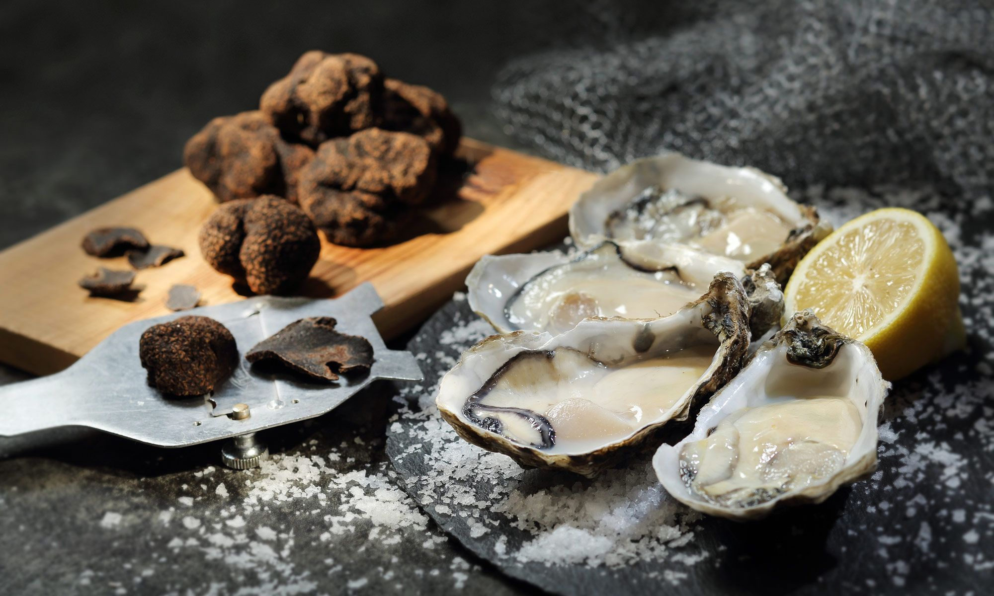 Black Truffle And Oyster Buffet At Cafe On M