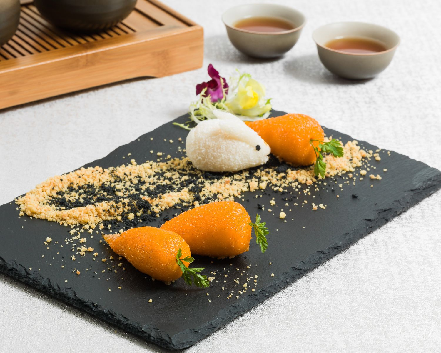 Lotus Palace's crispy glutinous rice dumpling with goose liver and dried scallop