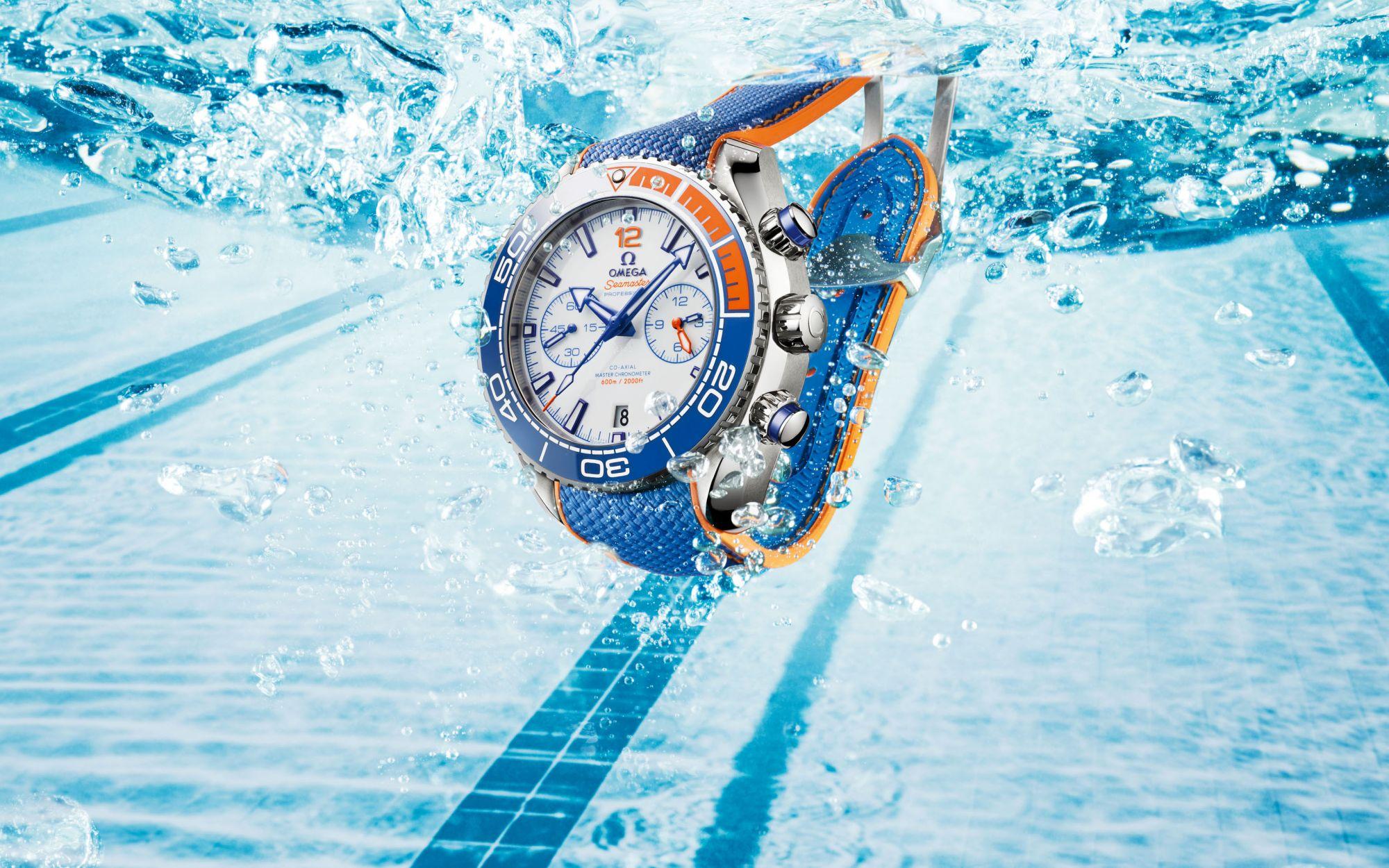 "Making A Splash: The OMEGA Seamaster Planet Ocean ""Michael Phelps"""