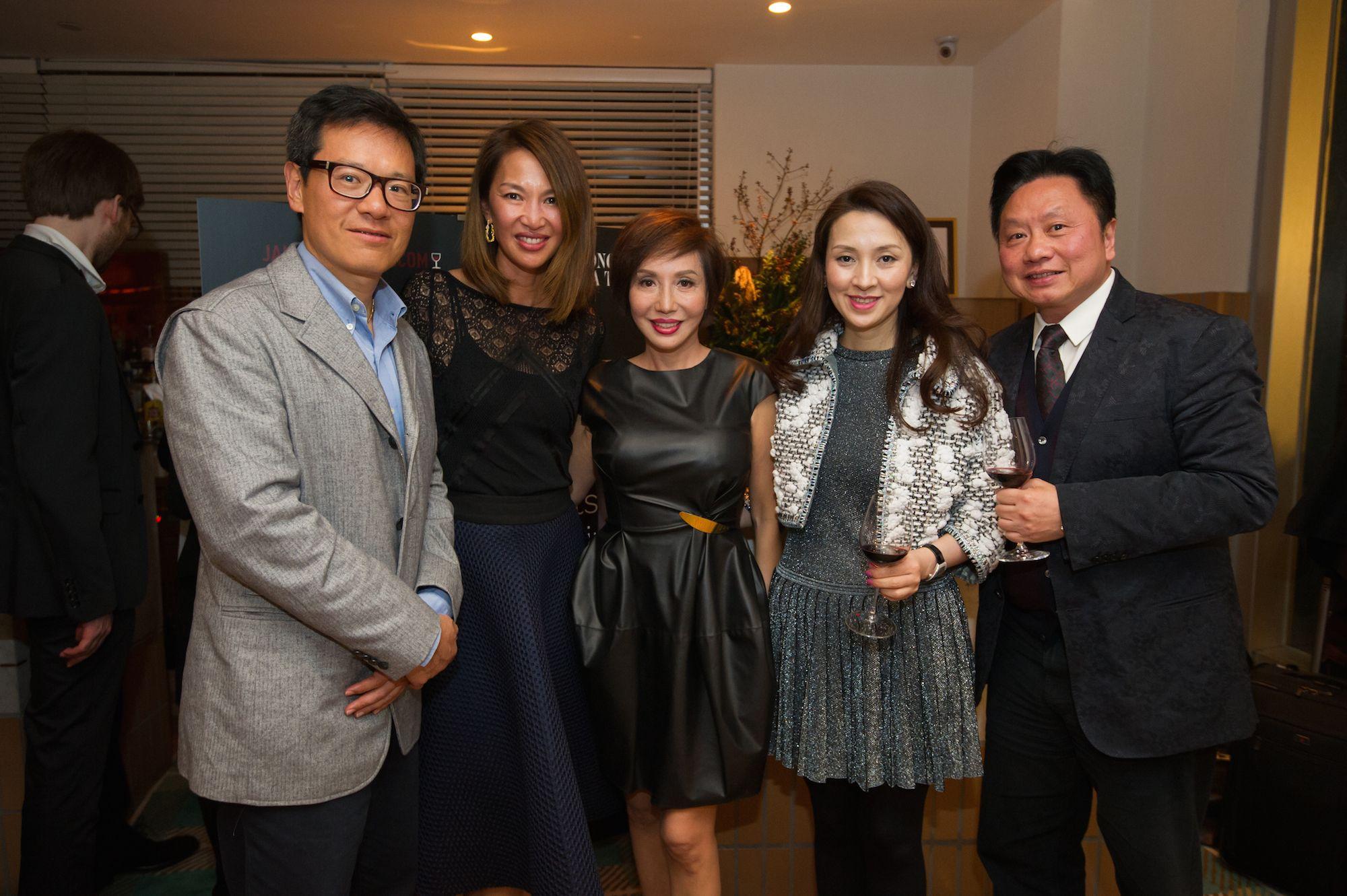 Hamilton Tang, Yolanda Choy-Tang, Olivia Lee-Davies, Emily Tang and Jimmy Tang