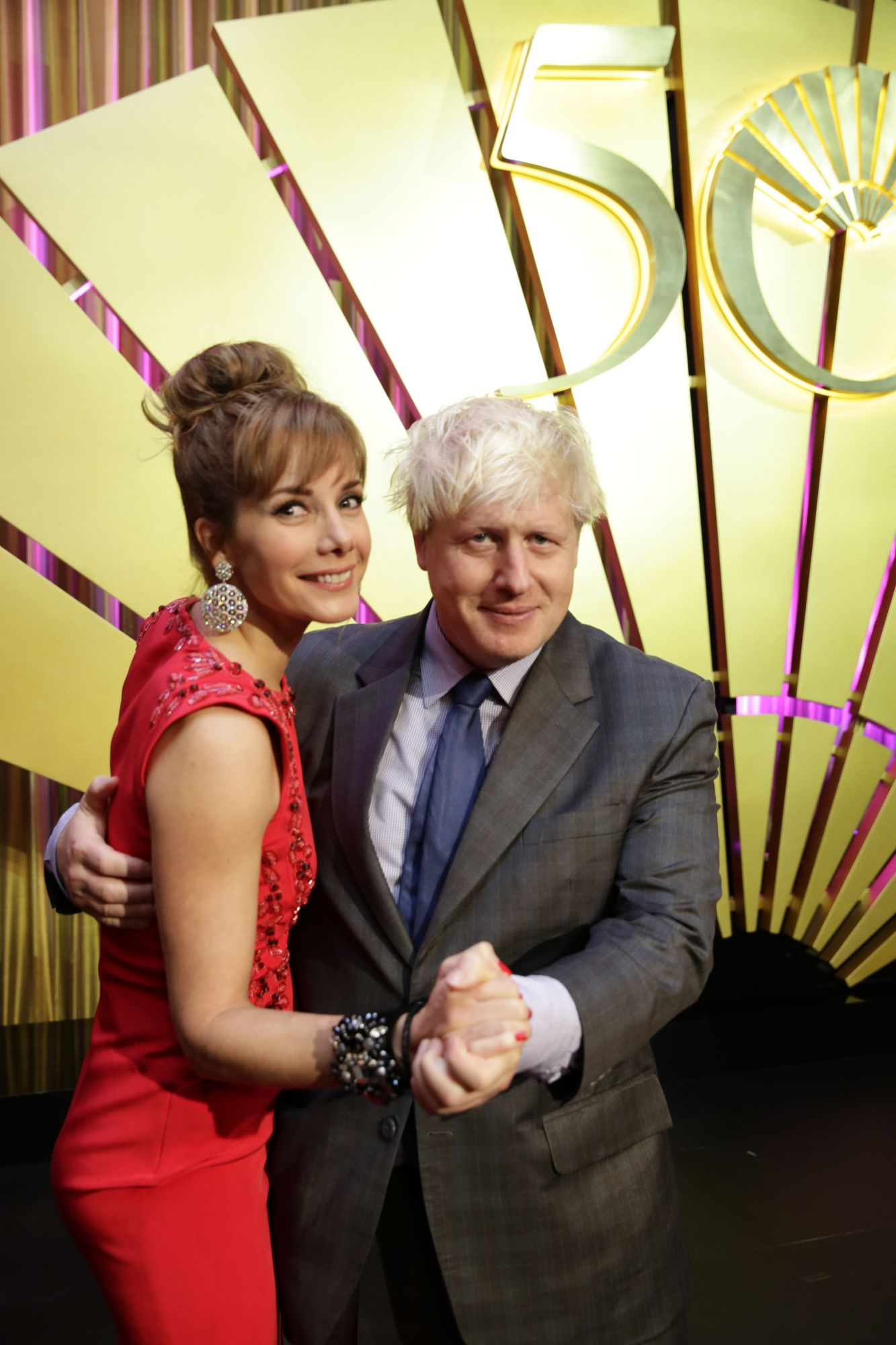 Darcey Bussell and Boris Johnson