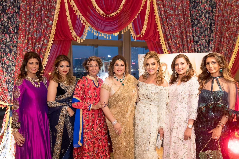 Vinita Mahbubani, Karishma Balani, Minoo Melwani, Rina Wadhwani, Sunita Vachani, Shyla Motwani and Amishi Sani