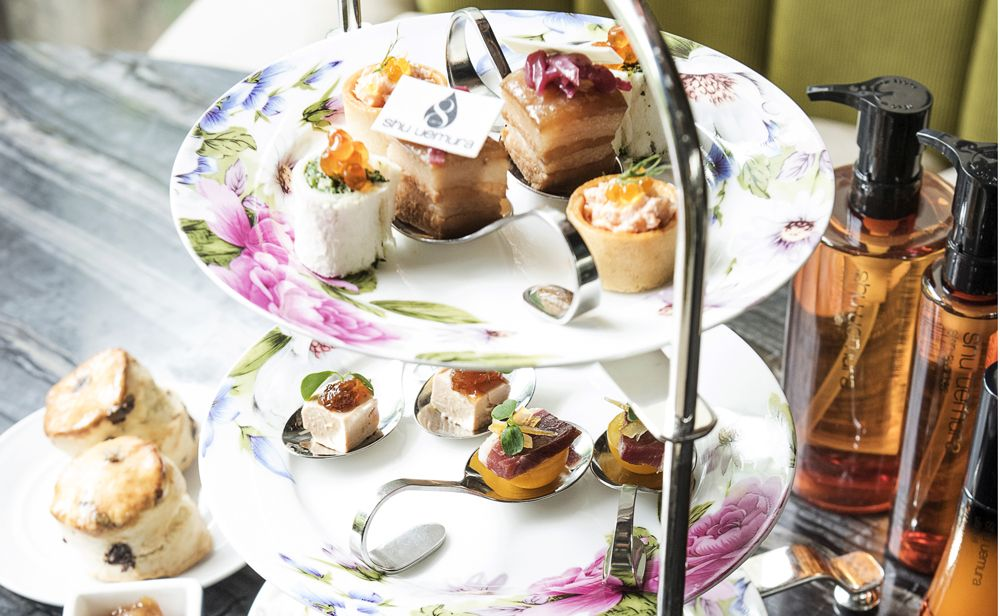 At Ammo, a Creative Afternoon Tea Inspired by Shu Uemura