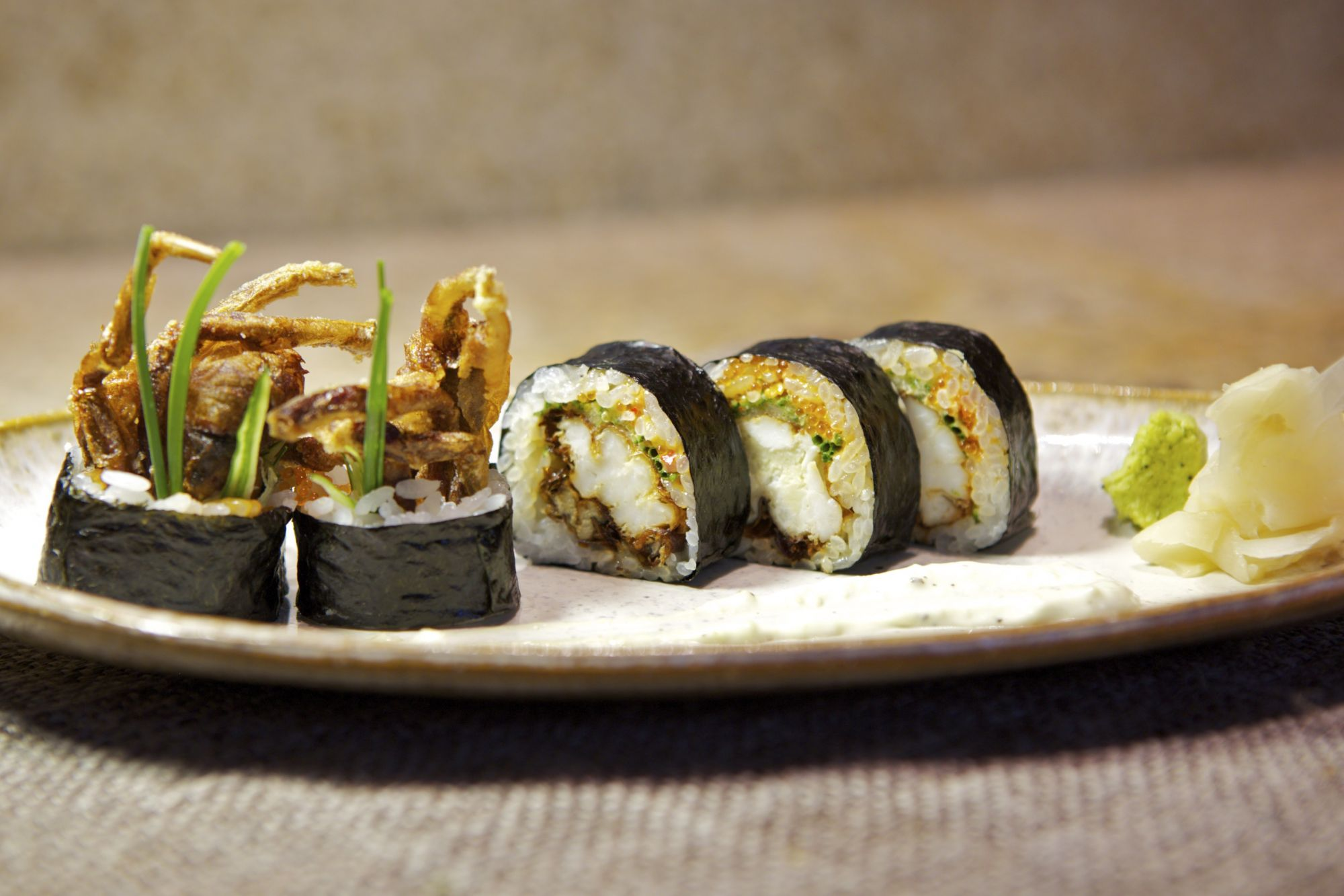 The Epicurean Express: Soft Shell Crab Roll