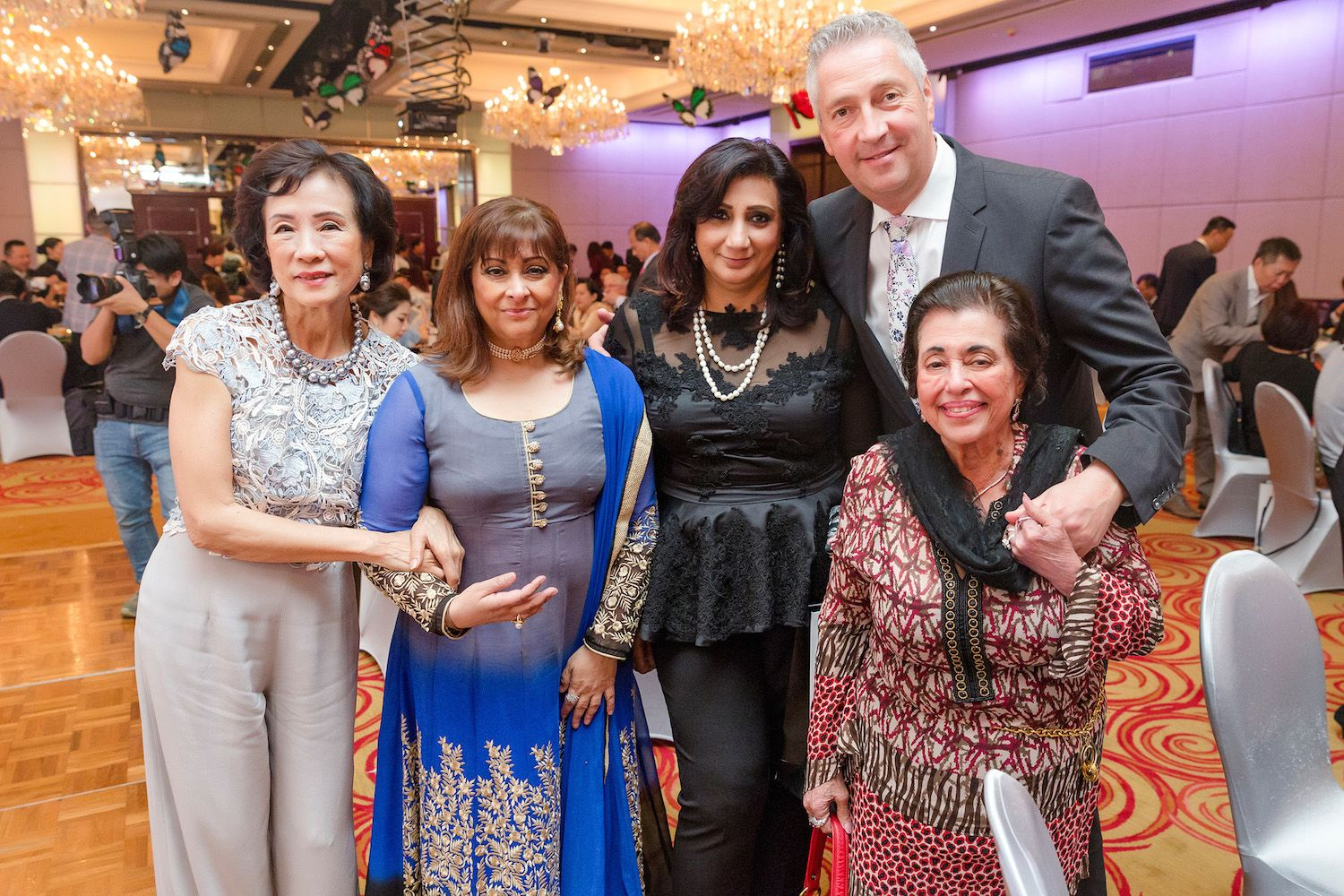 Eleanor Morris, Laila Harilela, Ranoo Wasan, Micheal Cottray and Purviz Shroff