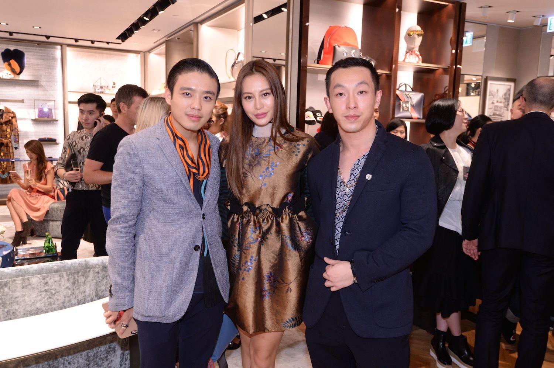 Jonathan Cheung, Eleanor Lam and Harris Chan