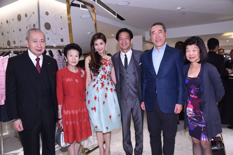 David and Penny Li, Pearl and Dickson Poon and Henry and Lisa Tang