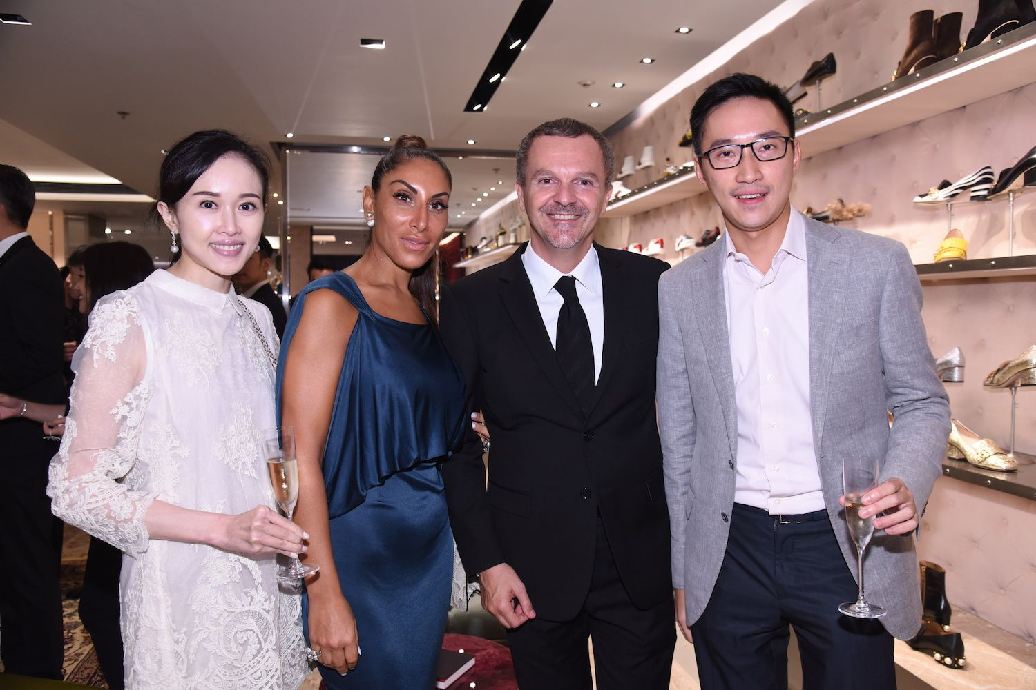 Jacqueline Chow, Miriam and Antonello de Riu and Evan Chow