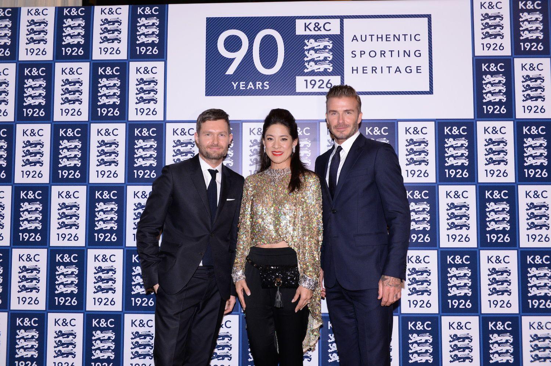 Daniel Kearns, Sabrina Fung-Lam and David Beckham